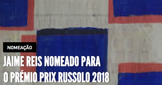 Jaime Reis was nominated for 2018 Prix Russolo Awards